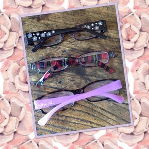 Three Pairs 2.5 Reading Glasses
